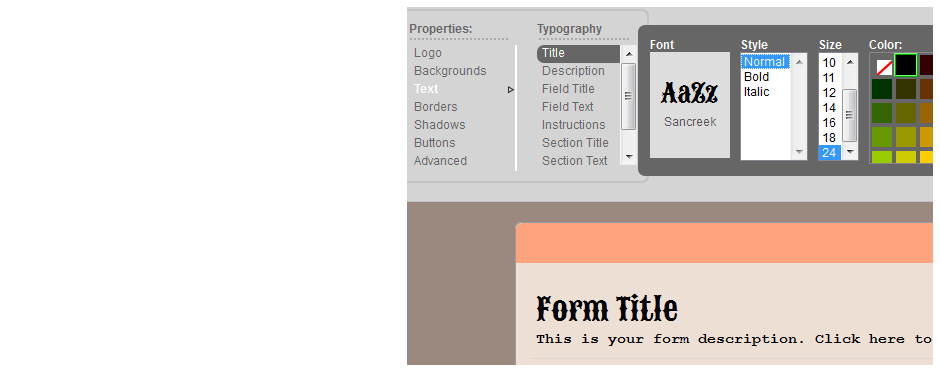 Use hundreds of custom font types.