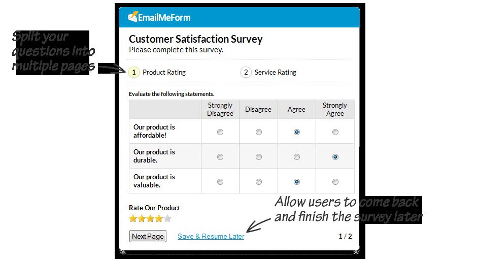 Feedback Forms & Customer Survey Examples - EmailMeForm