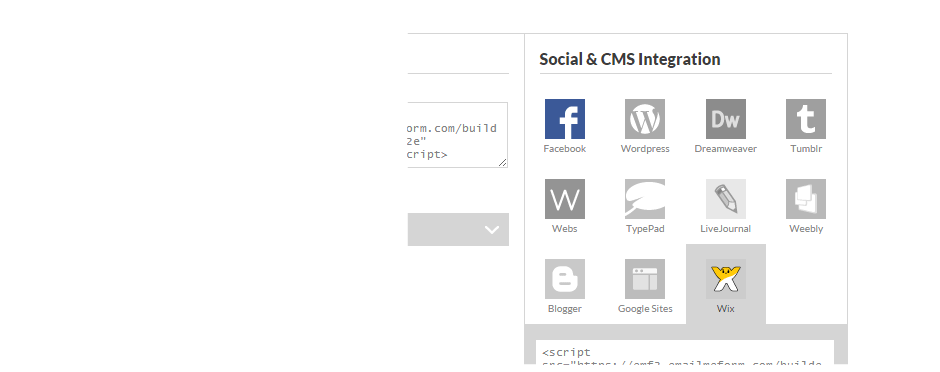 Multiple Social and CMS platforms for easy embed.