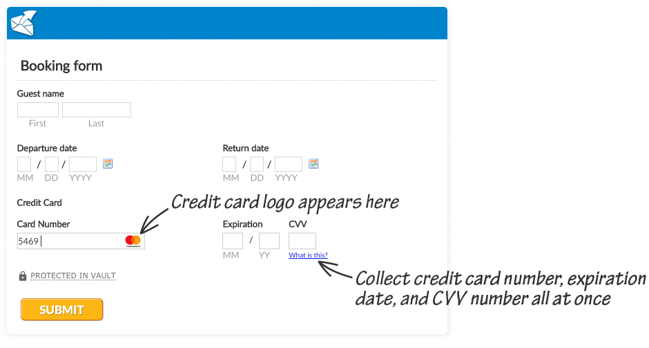 Create credit card authorization forms easily